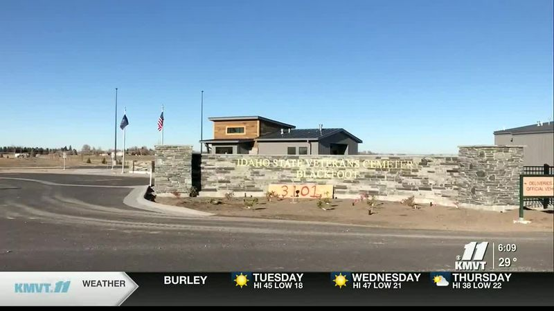 The new 40-acre Idaho State Veterans Cemetery opened Monday in Blackfoot.