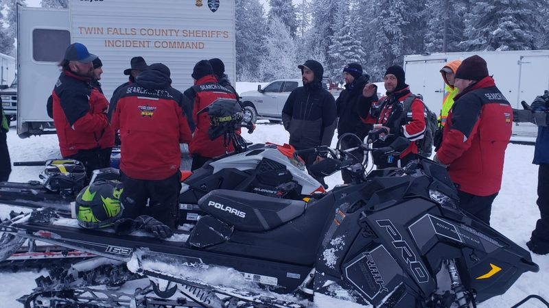 Searchers found two Jerome snowmobilers safe after not returning home Tuesday night from the...