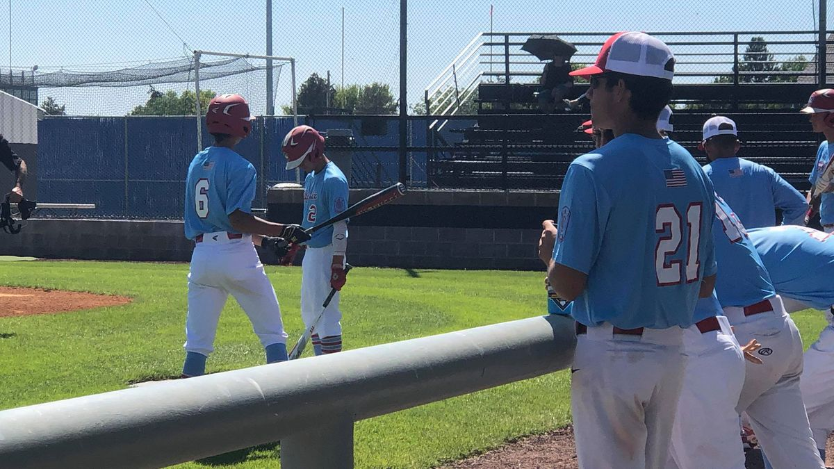 The Idaho Falls Bandits players getting a few warm-up swings before their doubleheader with Twin Falls.