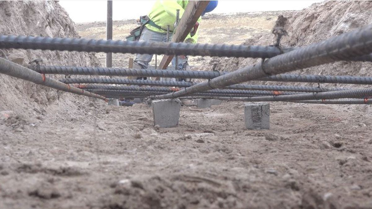 Construction workers laying rebar for Dotty's casino in Jackpot, Nevada (Source: KMVT)