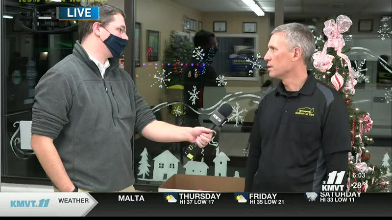KMVT meteorologist Max Mueller is live at Addison Car Care on Wednesday, Dec. 9 for a Toys for...