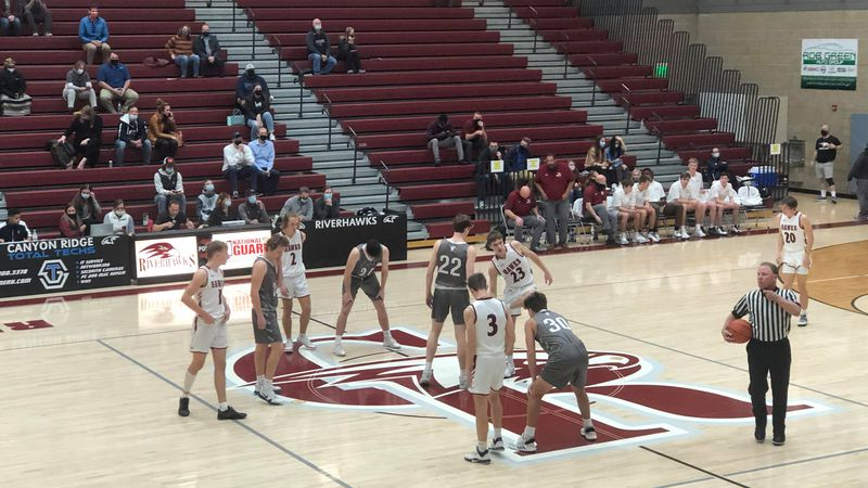 The Bruins and Riverhawks played in a tough battle Tuesday night at Canyon Ridge High School.