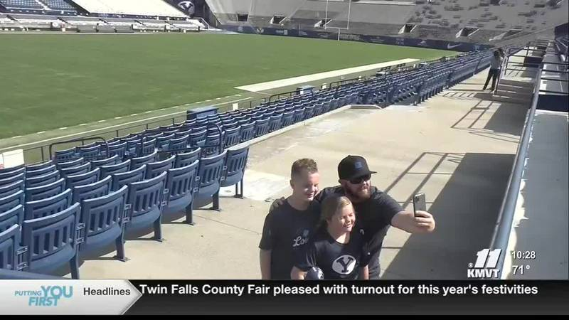 The Davis family checked out Lavell Edwards Stadium, days before the home opener.