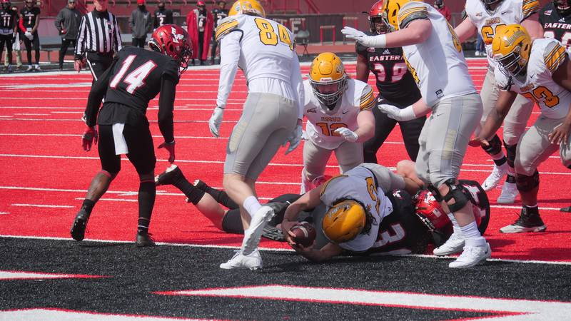 Idaho Vandals battled until the end, falling to Eastern Washington, 38-31 on Saturday, April...