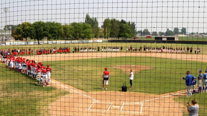 Baseball and softball players alike honored Holman Chadwick, a Kimberly Middle School student...