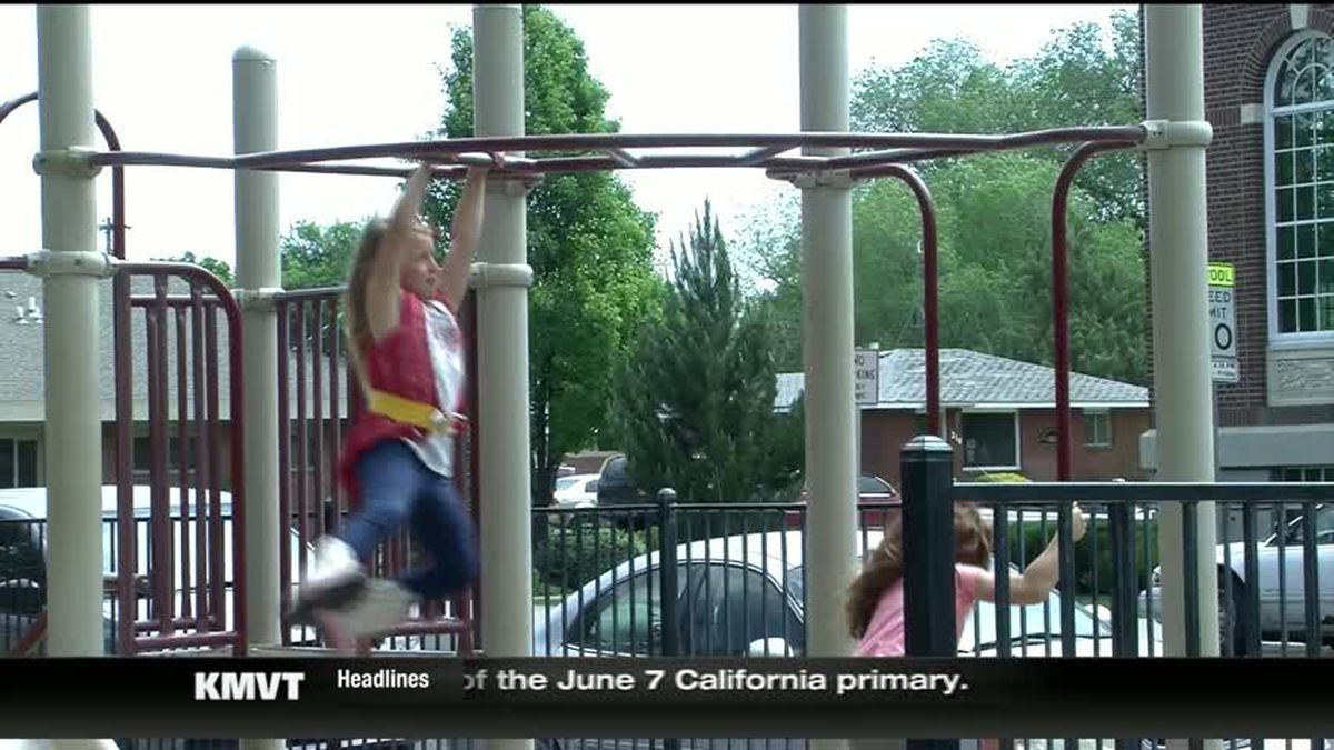 KMVT/Children playing on a playground in a Twin Falls park.