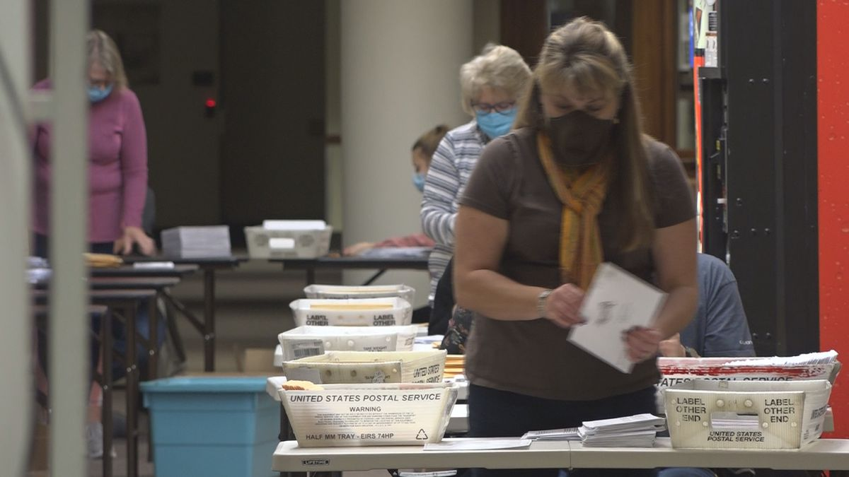 It's the last weekend before the election, and absentee ballots are being counted in Twin Falls...