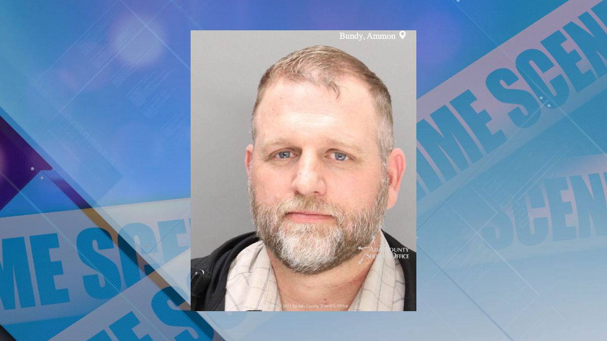 Ammon Bundy booked on new trespassing charge. (Photo Courtesy of Ada County Jail)
