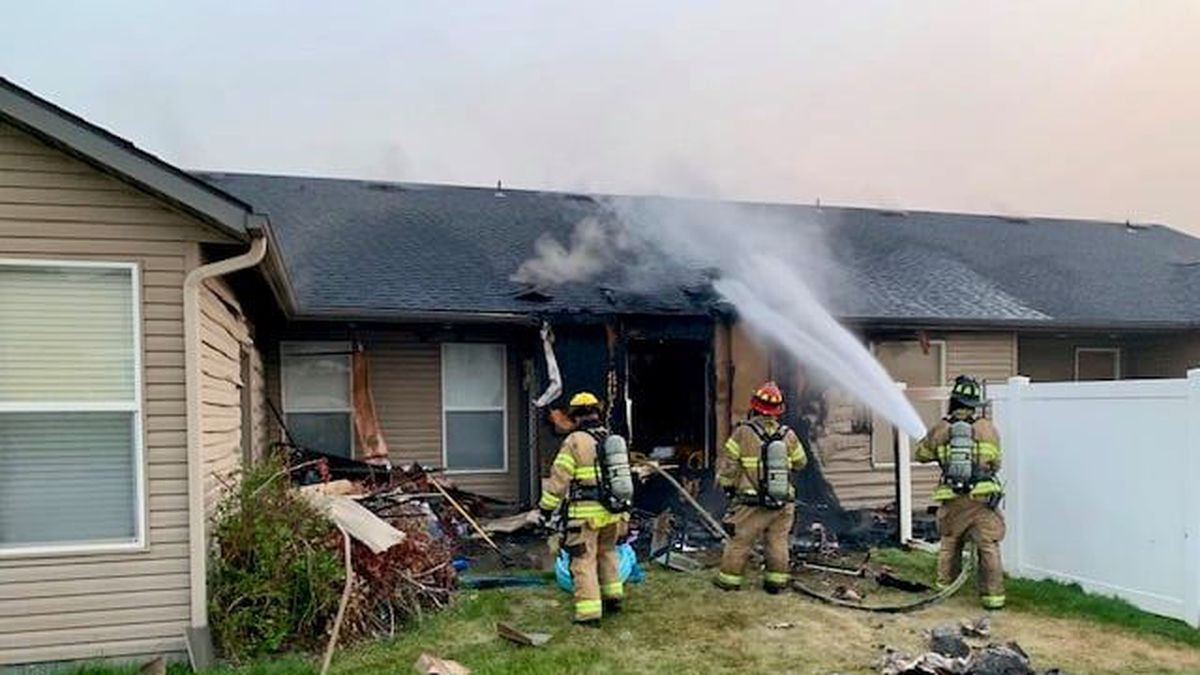 A Monday morning house fire caused about $100,000 worth of damage to a Twin Falls duplex.