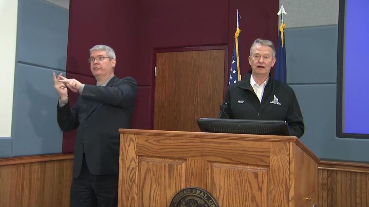 Idaho Gov. Brad Little is hosting a press conference to update Idahoans on the COVID-19 pandemic in Idaho. The press conference is being hosted at Gowen Field in Boise. (Source: KBOI)