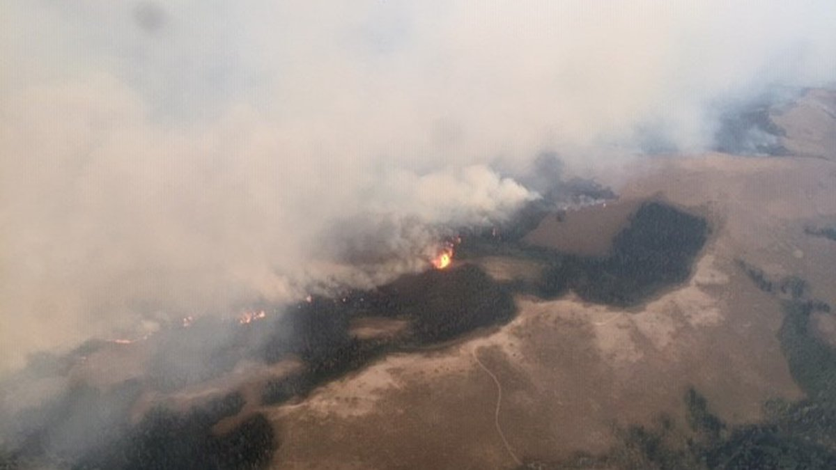 A fire burning in southwest Cassia County has burned about 5,500 acres in the Sawthooth...