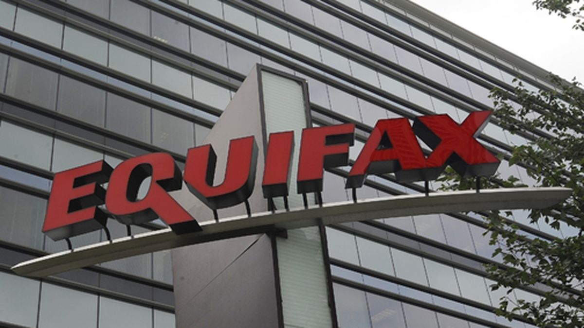 This July 21, 2012 file photo shows signage at the corporate headquarters of Equifax Inc., in...