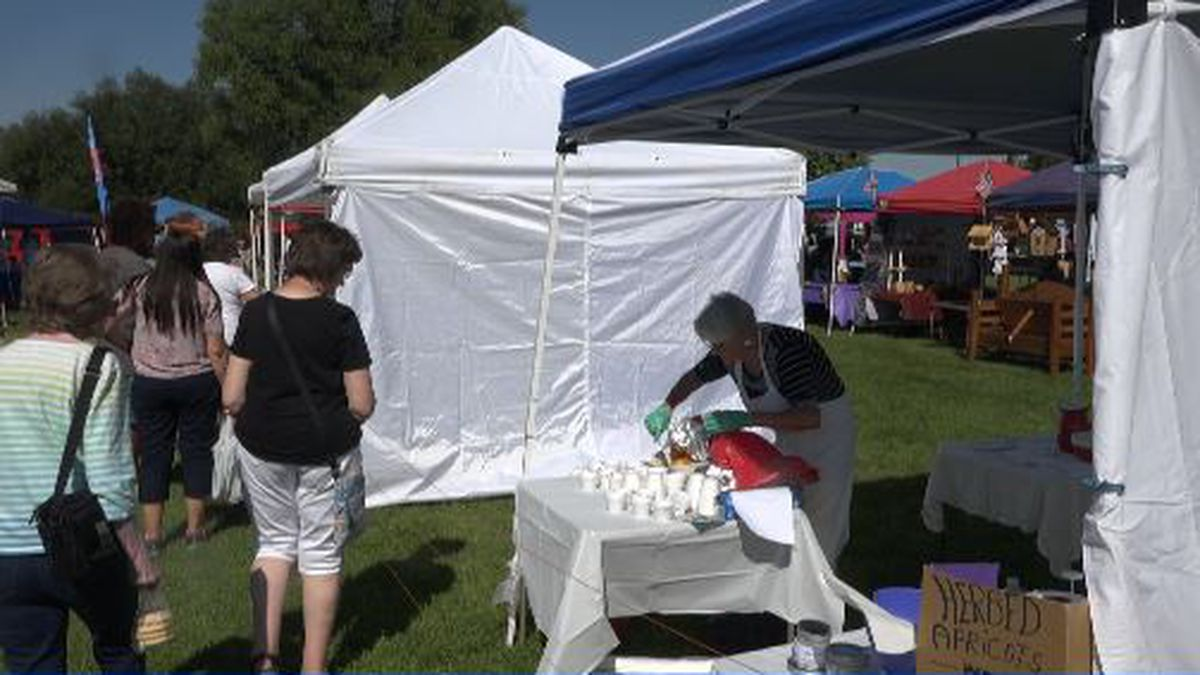 On Saturday, community members lined up to sample healthy meals during the Twin Falls Farmers Market Third Annual Cook-Off (KMVT/Ricardo Coronado).
