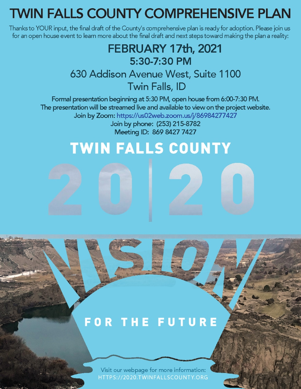 Residents are invited to view the updated comprehensive plan on Wednesday, Feb. 17.