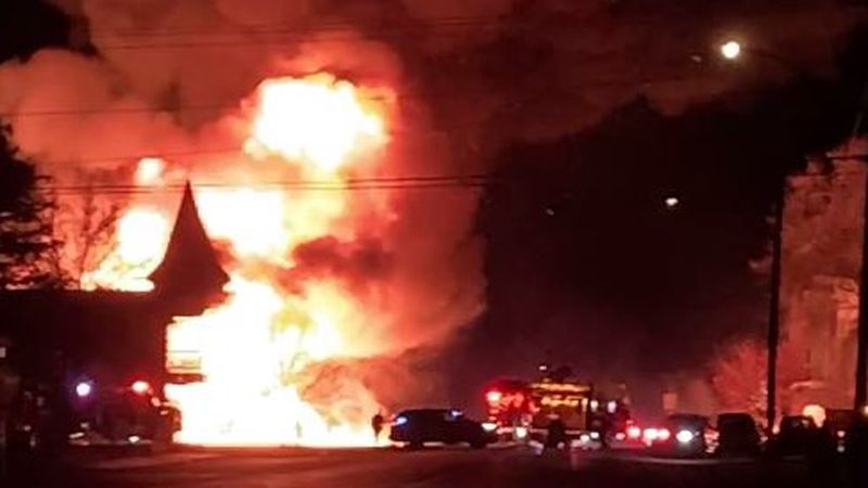 Multiple fire and rescue agencies in the Wood River Valley battled flames early Tuesday morning...
