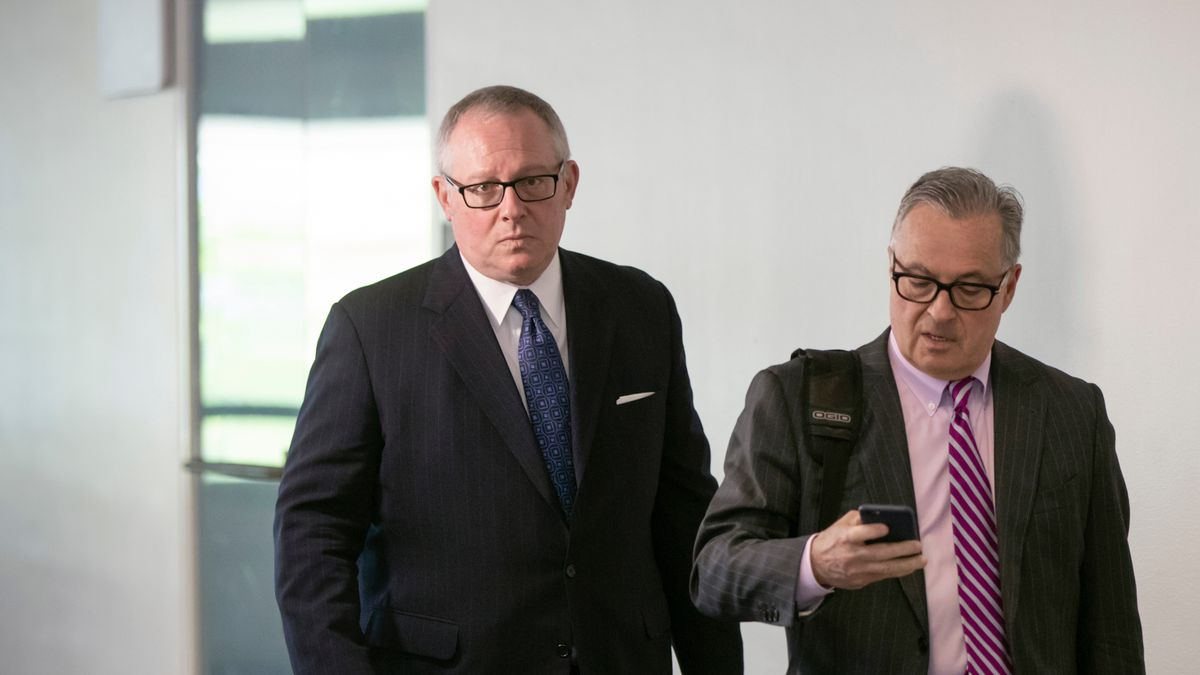 Michael Caputo (left), the top spokesman for the Department of Health and Human Services, apologized to his staff for the Facebook video, said an administration official.