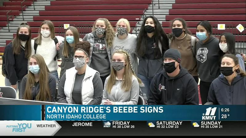 Canyon Ridge's Beebe signs with North Idaho College