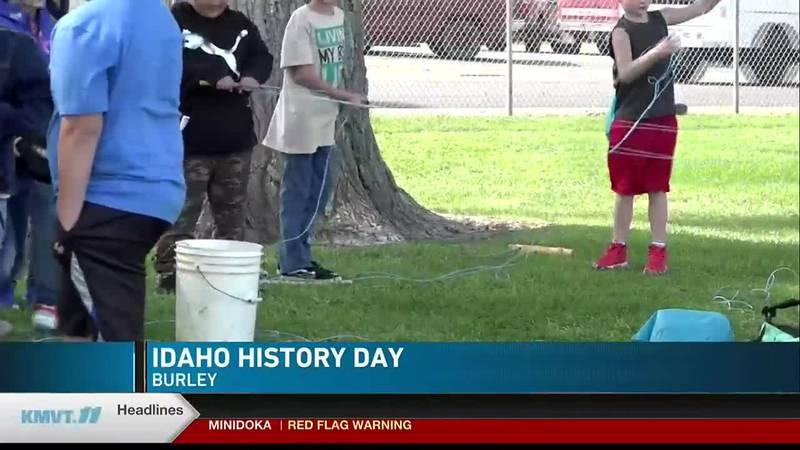 Cassia County 4th graders learn about Idaho's history on Idaho History Day