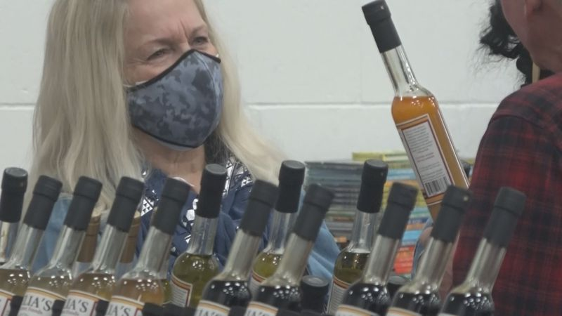 About 60 vendors gathered for the first ever Mistletoe Market in Burley on Saturday, and for...