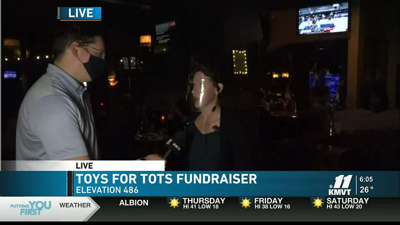 KMVT meteorologist is live at Elevation 486 on Dec. 3. The business is collecting toys for this...