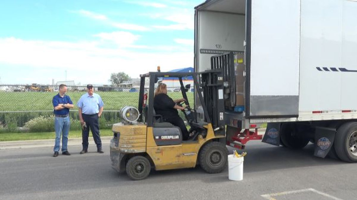 The South Central Community Action Partnership was excited to receive a large donation of food today, over 40,000 pounds of food. (Source: KMVT/KSVT)