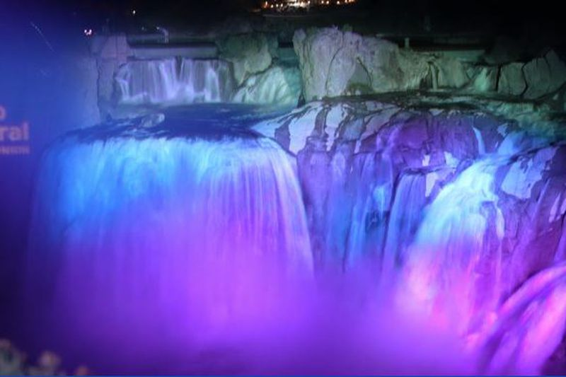 From May 14 through 31, Shoshone Falls will be lit up nightly.
