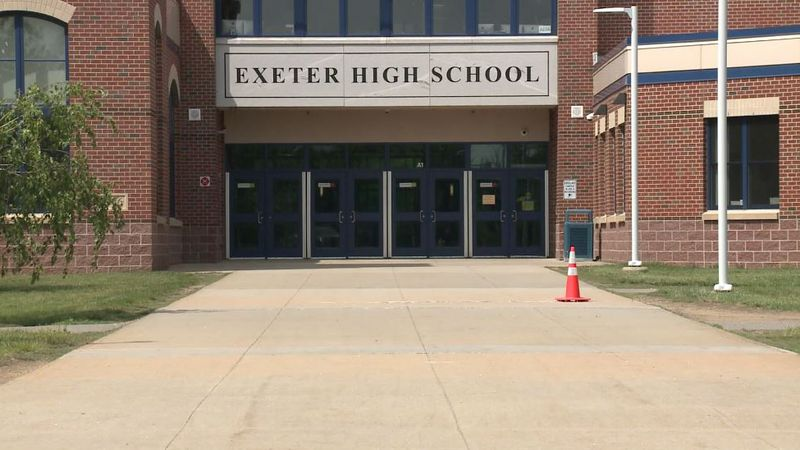 Seniors at Exeter High School attended prom outside on school grounds. Students who were unable...