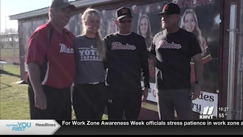 Seventeen-year-old Maisie Neilson signed her letter of intent with the College of Idaho for...