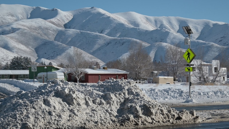 Residents in Blaine county start clearing the snow after a winter storm.