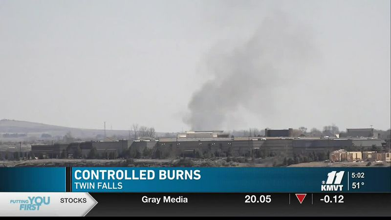 Twin Falls residents might if seen some smoke in the area Tuesday but there was no need for...