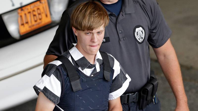 FILE - In this June 18, 2015 file photo, Charleston, S.C., shooting suspect Dylann Storm Roof...