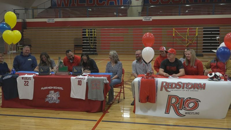 One wrestler and two basketball players are headed off to play collegiate sports