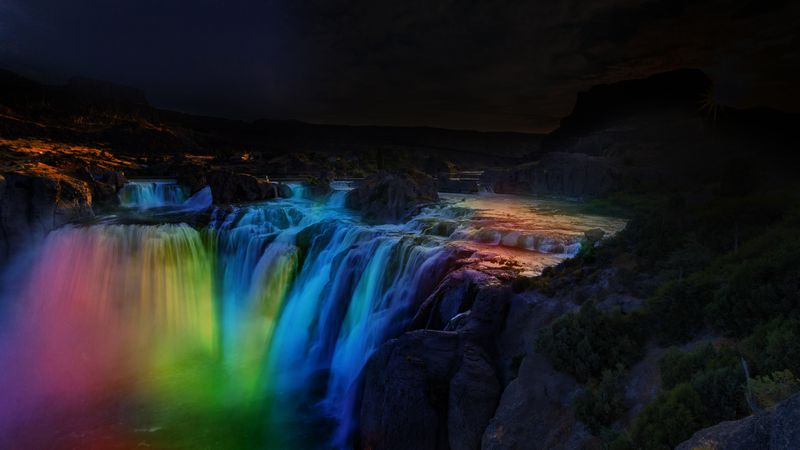 TWIN FALLS, Idaho (May 4, 2021) — SHOSHONE FALLS AFTER DARK — As this rendering demonstrates,...
