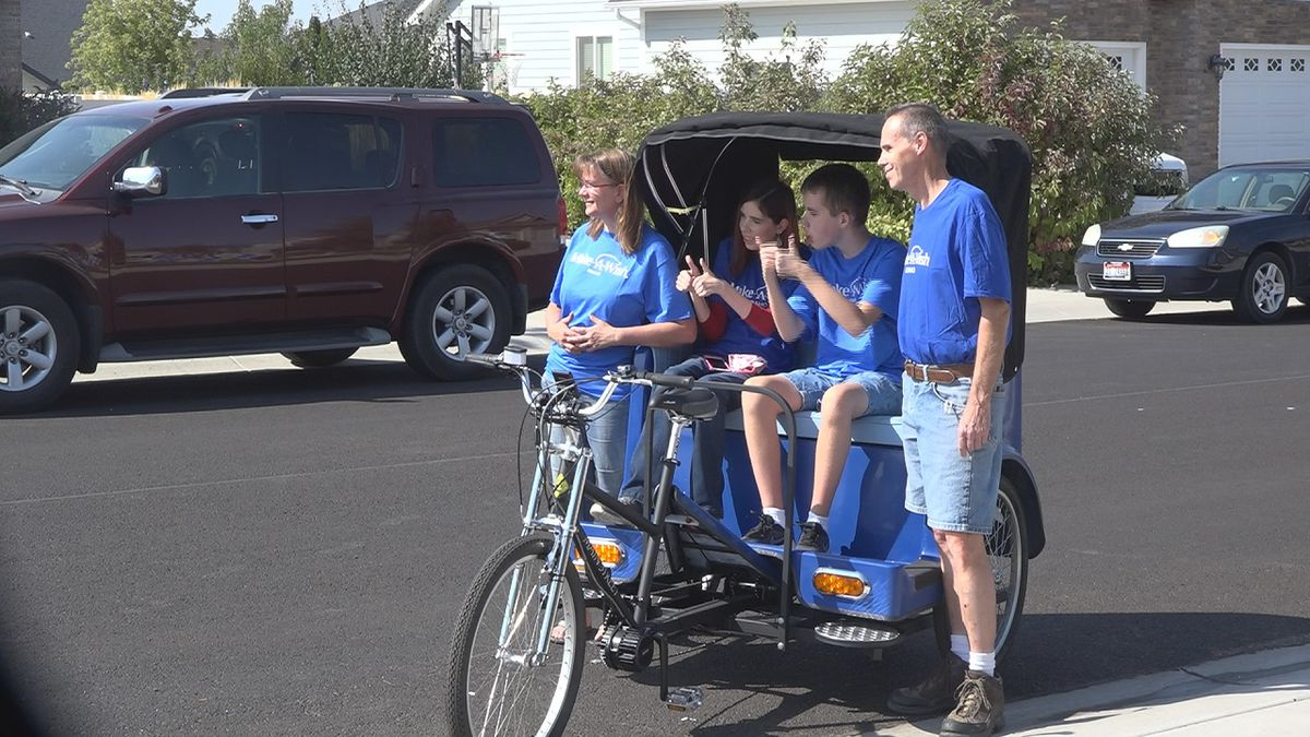 Shawn Powers got a pedicab, to help him enjoy his favorite activity of riding bikes with his...