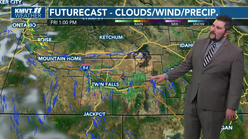 Two cold fronts expected over the next seven days