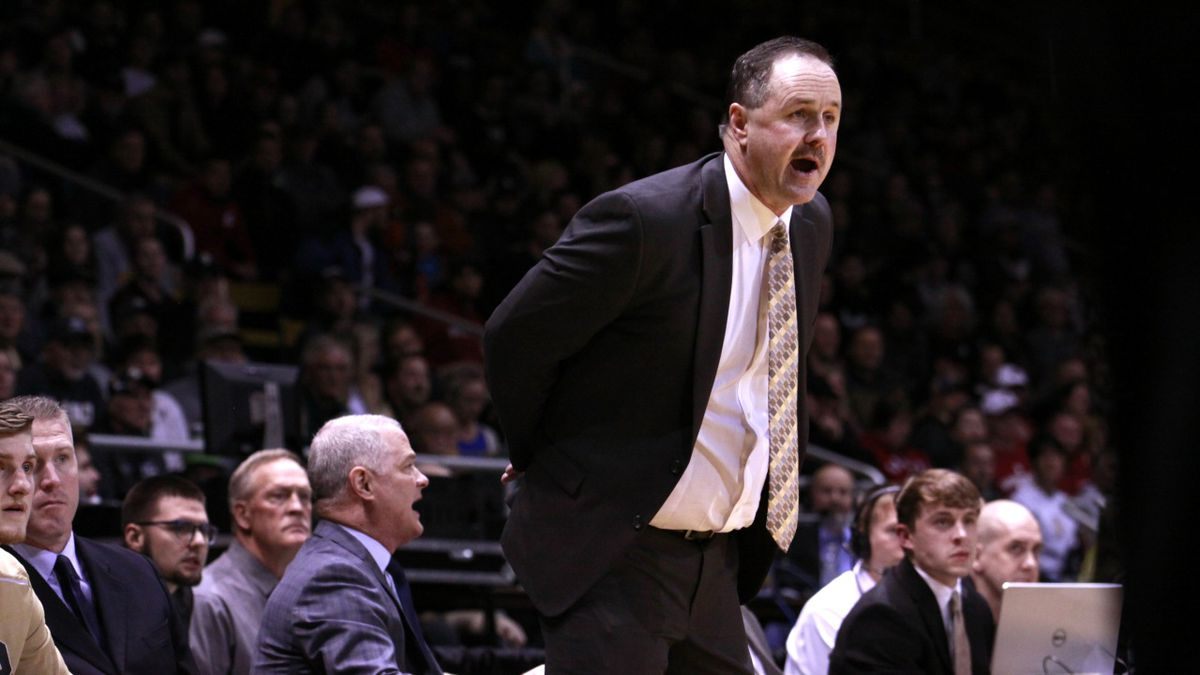 University of Idaho men's basketball coach Don Veril was recently placed on administrative leave. (Image by Tess Foster courtesy University of Idaho Athletics)