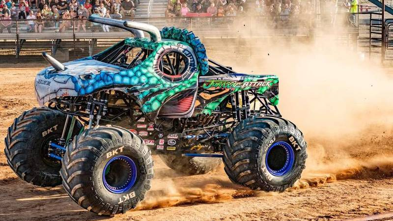 Jurassic Attack will be just one of many Monster Trucks in Twin Falls Saturday, July, 24th