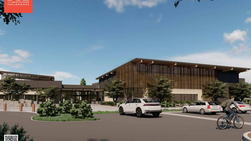 The outdoor fieldhouse will help support challenged athletes foundation and mission 43.