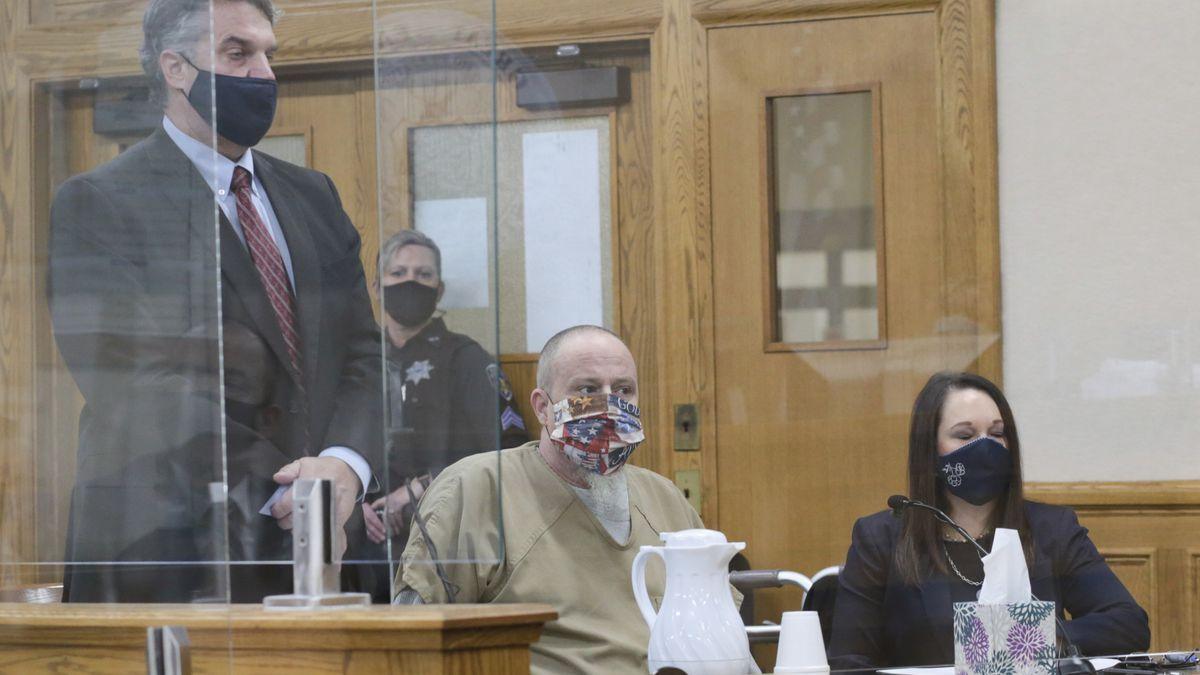 Defense attorney James Archibald addresses Judge Joel Tingey during the plea hearing of Brian...