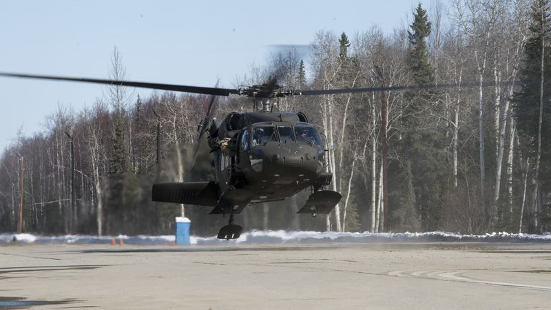 The UH-60 Black Hawk's emergency transmitter locator was activated about 15 minutes after the...