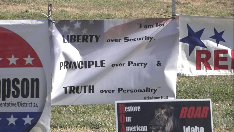 During their Saturday rally, they expressed concerns over a loss of constitutional rights