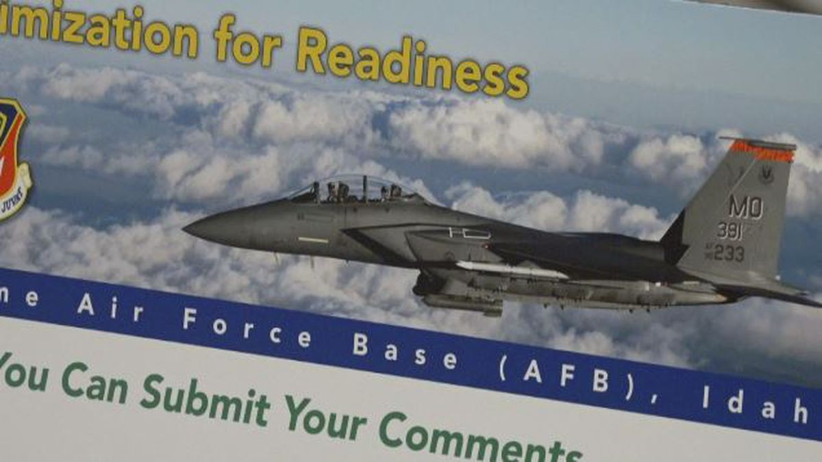 Mountain Home Air Force base officials are asking for the public's input on whether or not air craft can fly lower in parts of Idaho, Nevada and Oregon.
