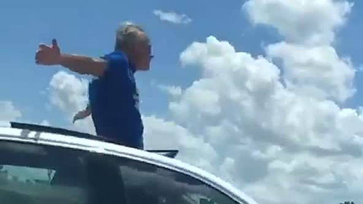 The Florida Highway Patrol pulled 70-year-old Leonard Olsen after he was veering from lane to lane, sometimes driving over 100 mph.