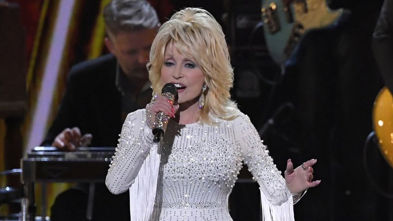 FILE - In this Nov. 13, 2019 file photo, Dolly Parton performs at the 53rd annual CMA Awards in...
