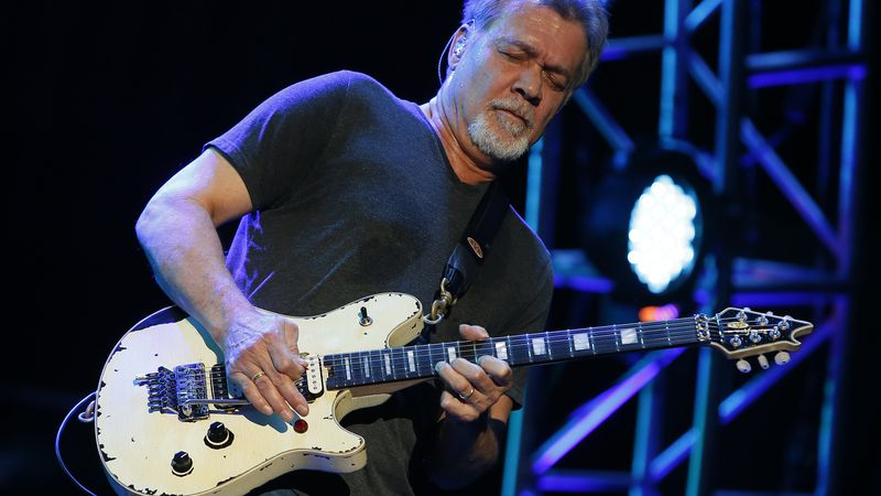 Eddie Van Halen is seen at Ak-Chin Pavillion on Monday, September 28, 2015, in Phoenix, Arizona.
