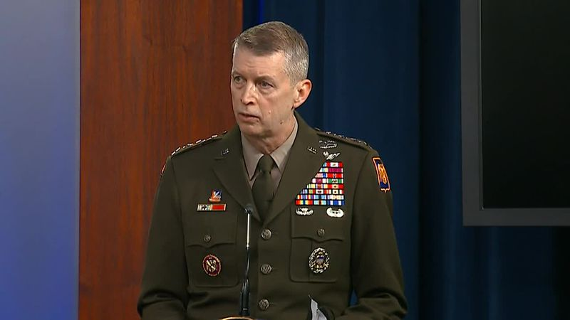 Gen. Daniel Hokanson, Chief of the National Guard Bureau, spoke during a Pentagon briefing on...