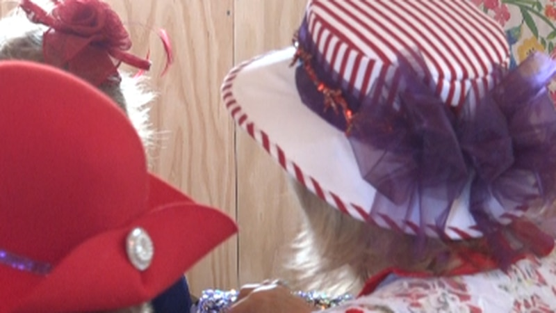 Hats worn at the Generational Tea party in Rupert.