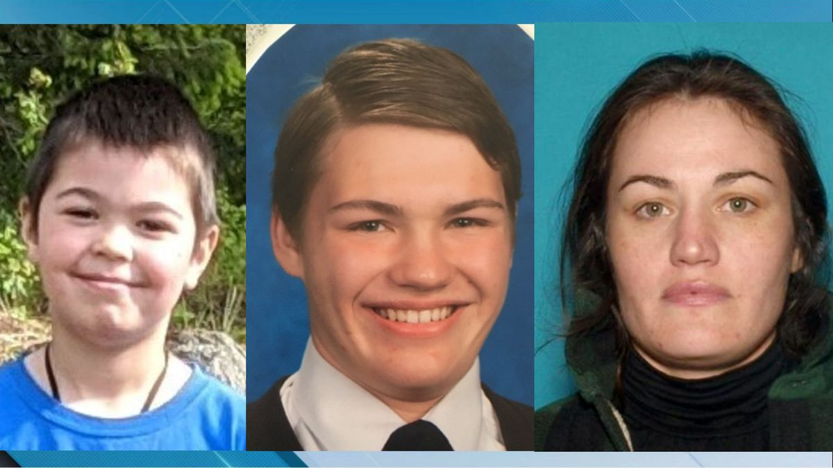 "Rathdrum Police Department issued an Amber Alert for 6-year-old Leo Hiibel-Cloutier who is believed to be in imminent danger. Police are also looking for 17-year-old Gene W. ""GW"" Hiibel. Both boys are believed to be with their mother Mimi C. Hiibel, 35, who recently lost parental rights for Leo. (Source: Rathdrum Police Department)"