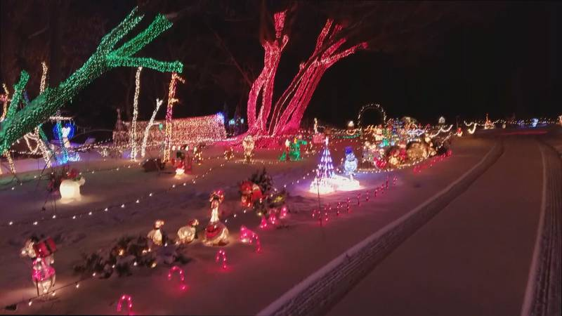 Christmas Light Show 2016<br />Courtesy: Paul Brady, Rock Creek General Store Manager