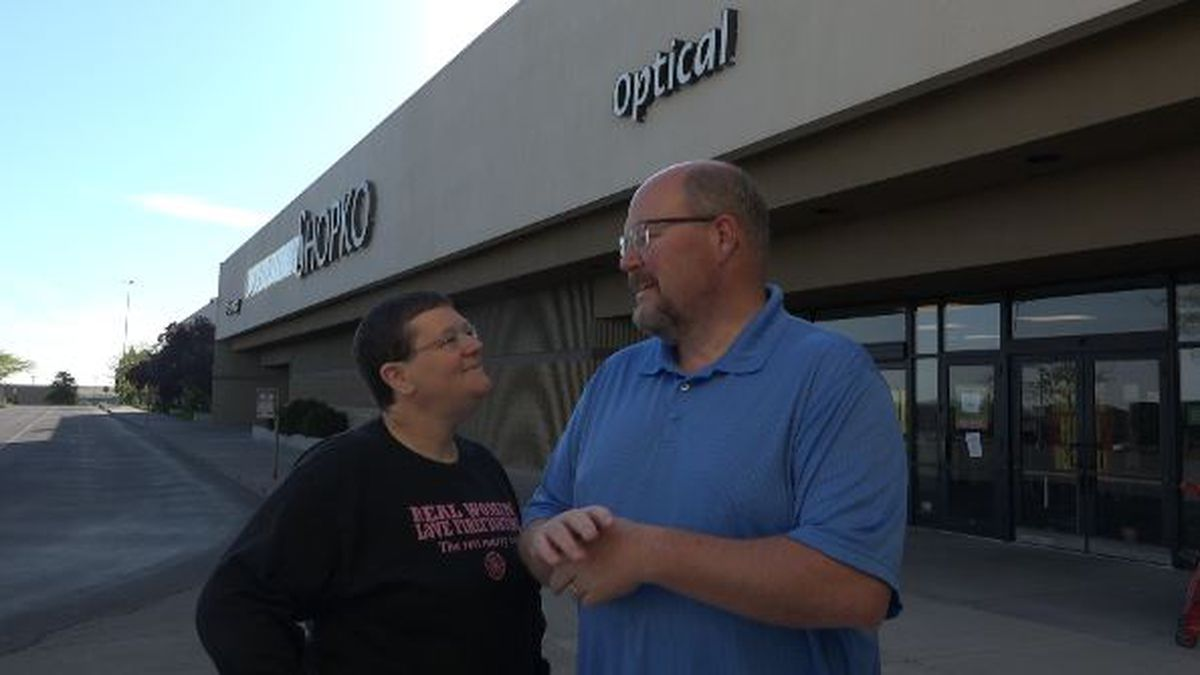 Mike and Molly Malone Hintz were former employees at Shopko in Twin Falls and were employed at the time when the store open its doors in 1986. They returned to say goodbye to the place where they fell in love.